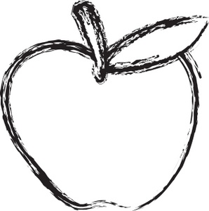 298x300 Apple Black And White Black And White Apple Clip Art 3 2