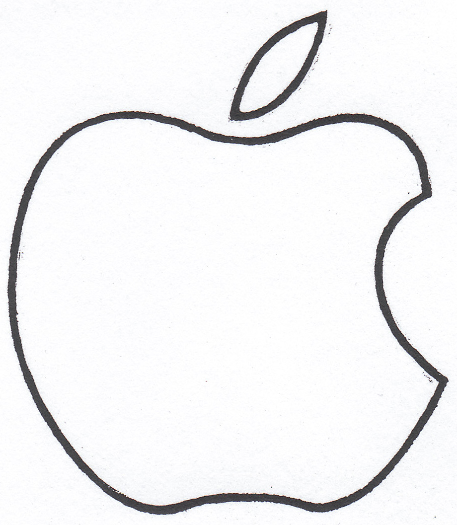 920x1057 Apple Black And White Ideas About Apple Template On Preschool Clip
