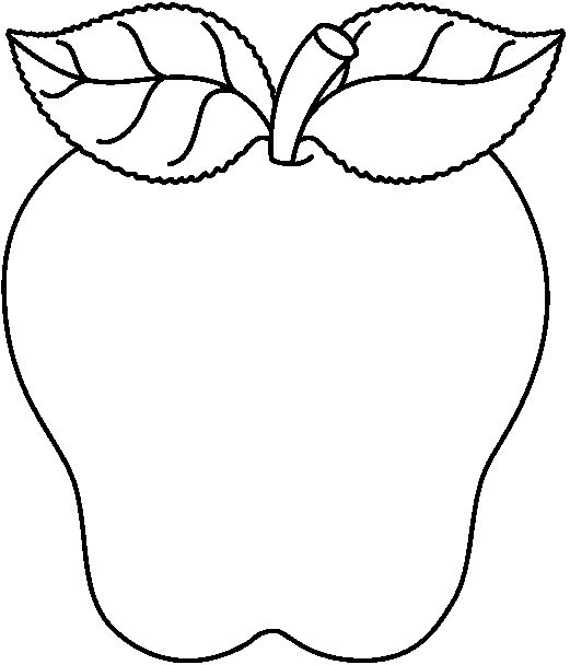 521x608 Black And White Apple Clip Art