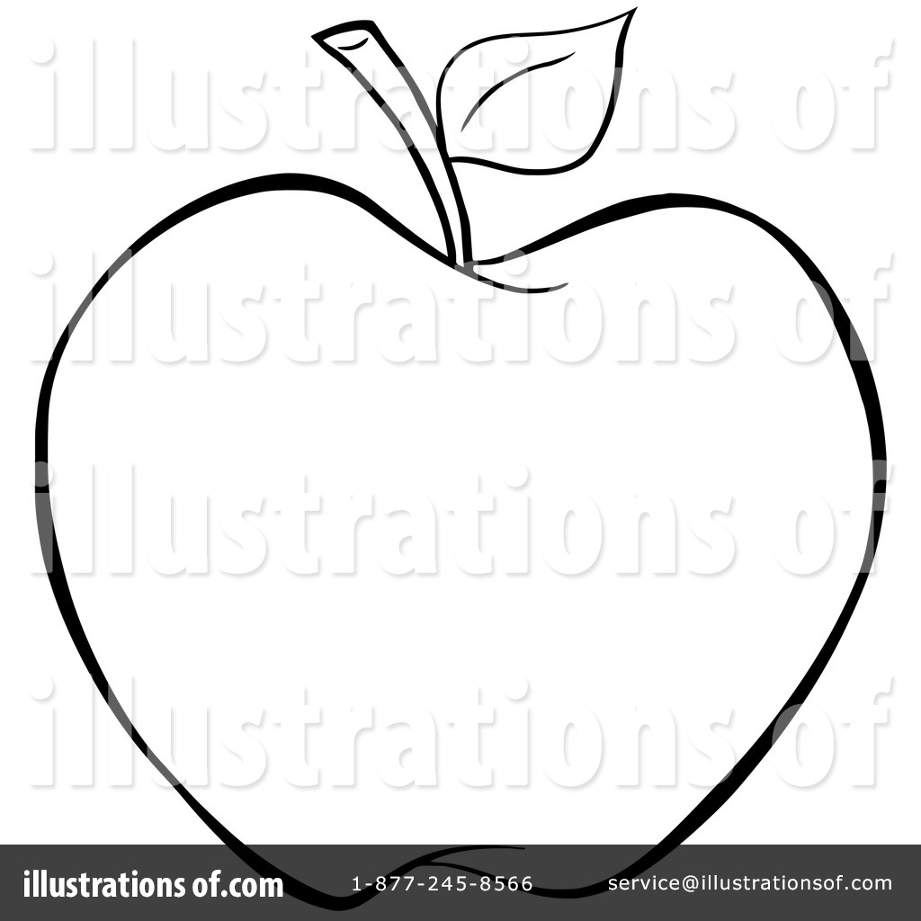 1024x1024 Apple Clipart Balck White