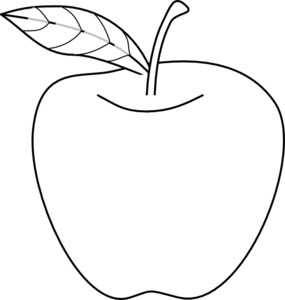 285x300 Apple Outline Clip Art