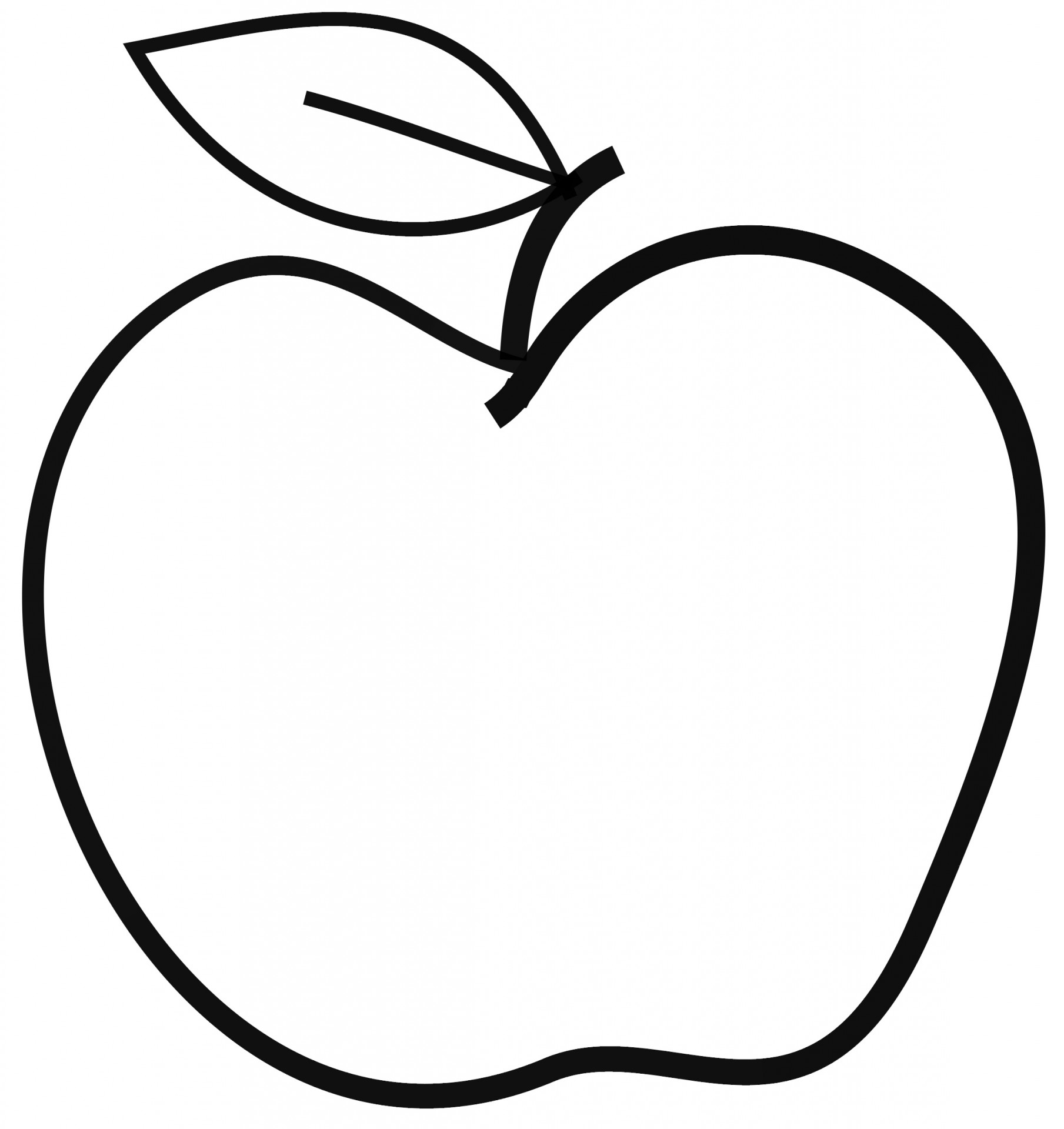 1809x1920 Apple Black And White Apple Clip Art Black And White 2
