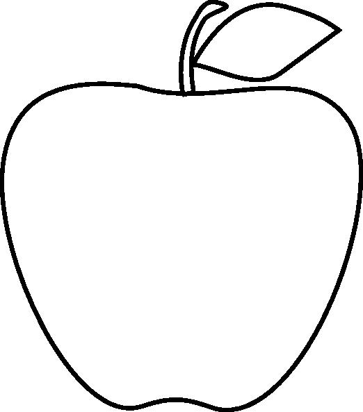522x593 Apple Black White Apple Black And White School Clipart