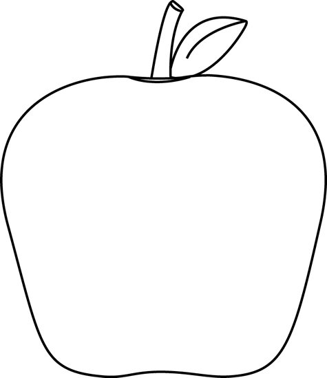 475x550 Black And White Apple Clip Art