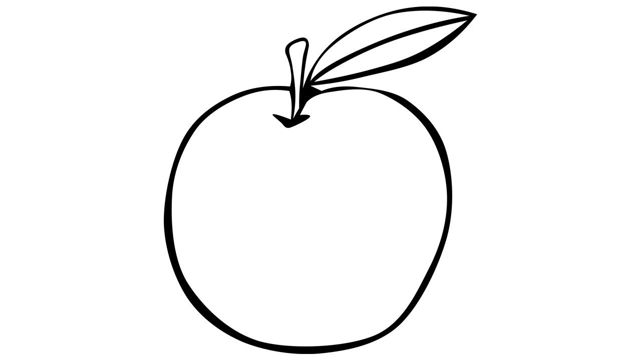 1280x720 Apple Black And White Apple Black And White Apple Clip Art 2