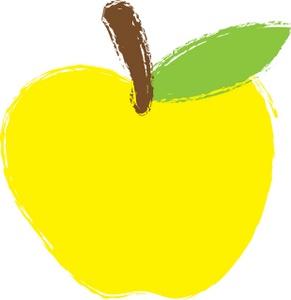 291x300 Apple Clipart Big Yellow