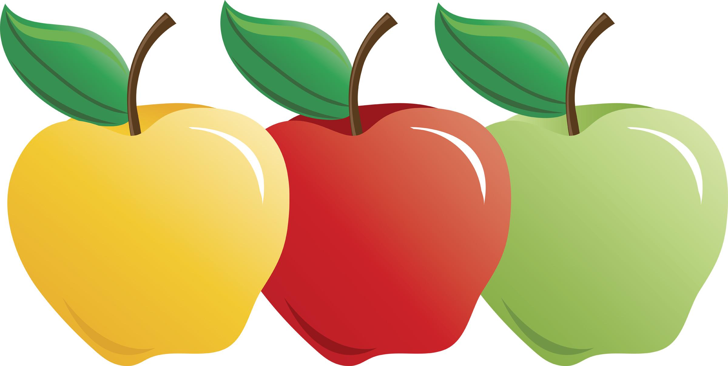 2400x1206 Clip Art Apple Types Clipart