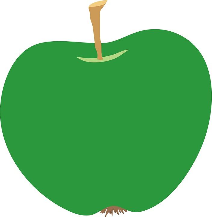705x720 Snack Free Illustration Apple Green Clip Art Fruit Free Image