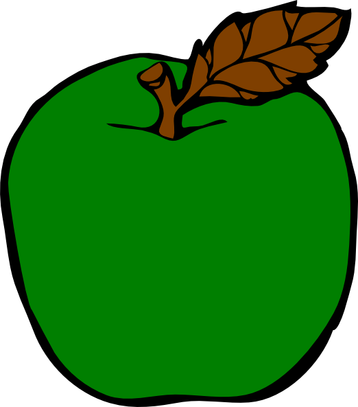 522x593 Apple Clipart Lime Green