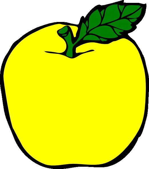 522x593 Yellow Apple Clip Art