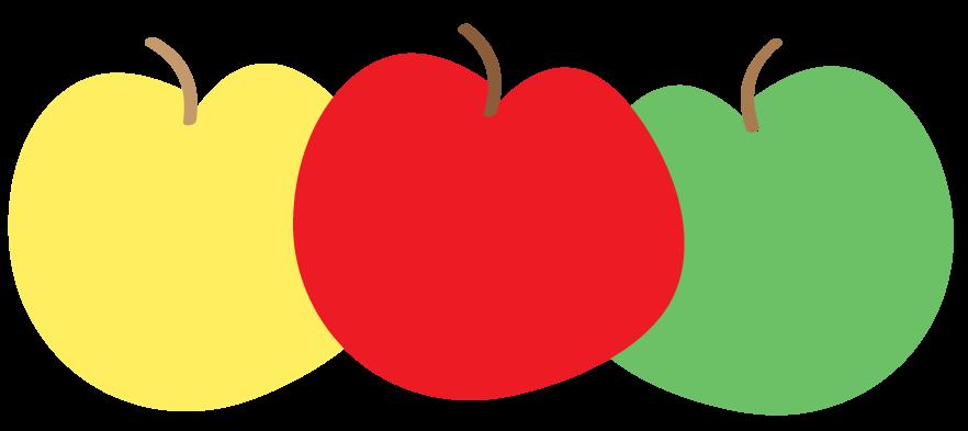 882x393 Colorful Apple Clip Art Free
