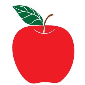 300x300 Cute Apple Clip Art Free Clipart Red
