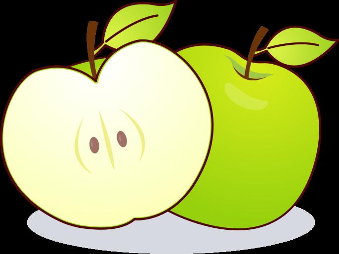 686x515 Green Apple Clip Art