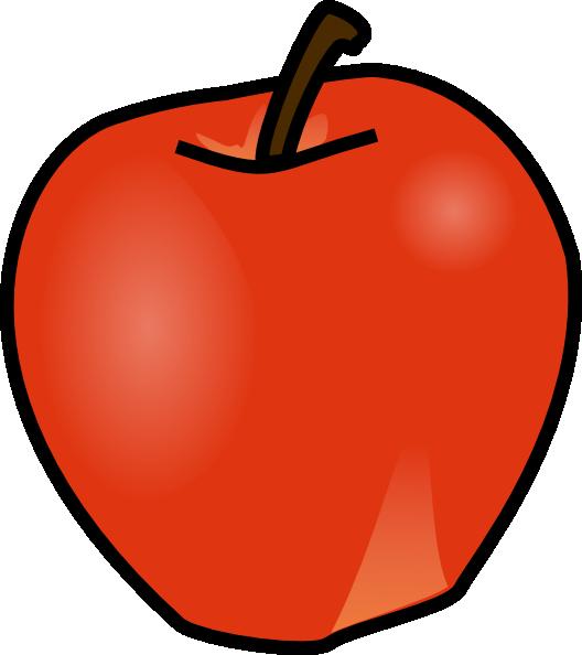 528x594 Apple Clip Art Free Vector 4vector