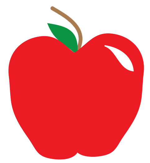 482x523 Apple Clip Art Black And White Free Clipart Images