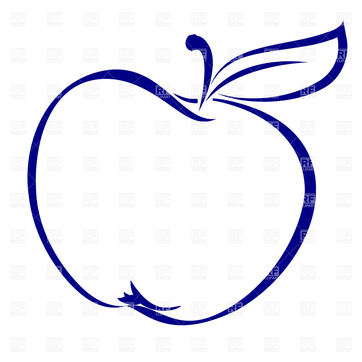 1200x1200 Apple Clipart Simple