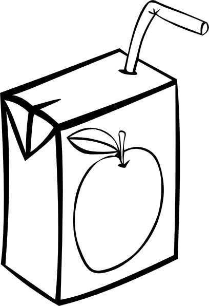 408x596 Apple Juice Box (B And W) Clip Art Free Vector In Open Office