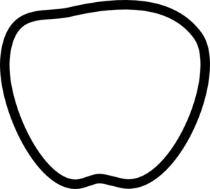 300x270 Apple Black And White Clip Art