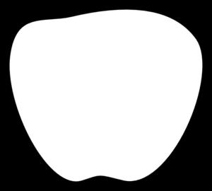 300x270 Apple Black And White Clip Art
