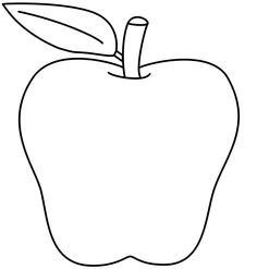 236x247 Apple Black And White Clipart