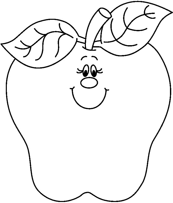683x800 Apple Black And White Clipart