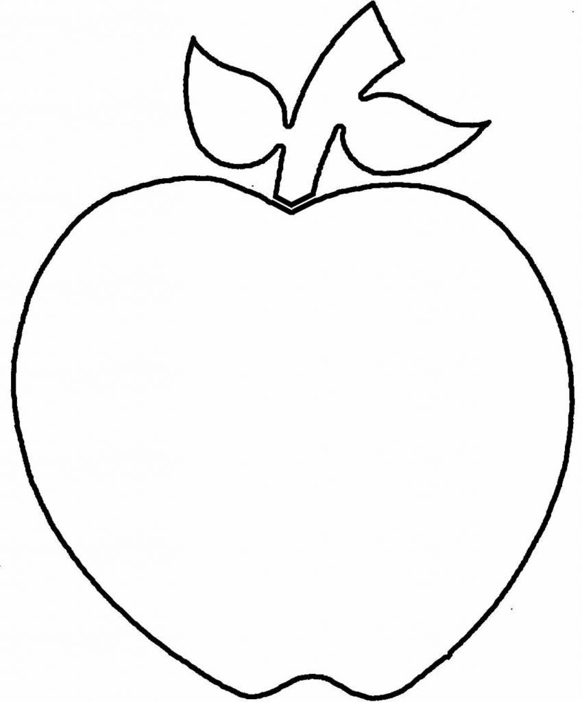 849x1024 Apple Outline Picture Apple Outline Clip Art Clipart Panda Free