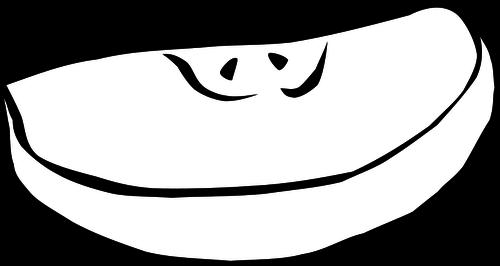 500x266 Apple Black And White Apple Slice Vector Clip Art Vectors