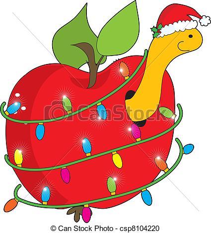 425x470 Apple Clipart Christmas