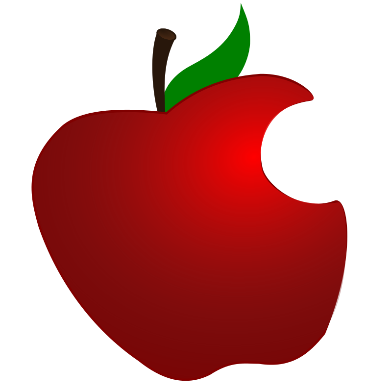 800x800 Apple Swirl Design Burgundy Clip Art
