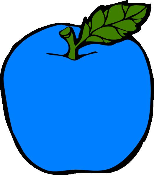 522x593 Blue Apple Clip Art