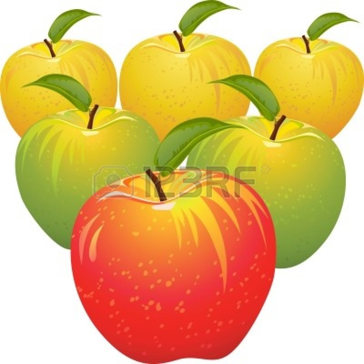 1200x1200 Red Apple Green And Yellow Border Clip Art Cliparts