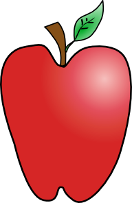 192x296 Cartoon Apple Clip Art