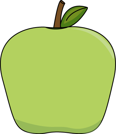 397x460 Green Apple Clipart Transparent Background