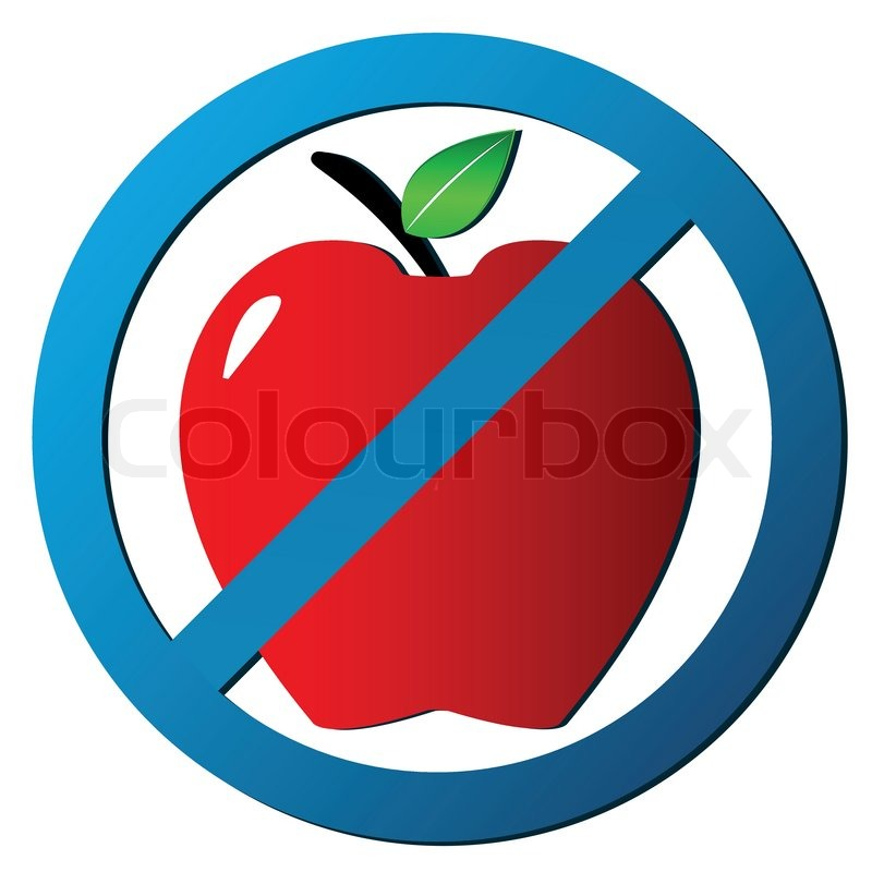 800x800 No Apple Icon Stock Vector Colourbox