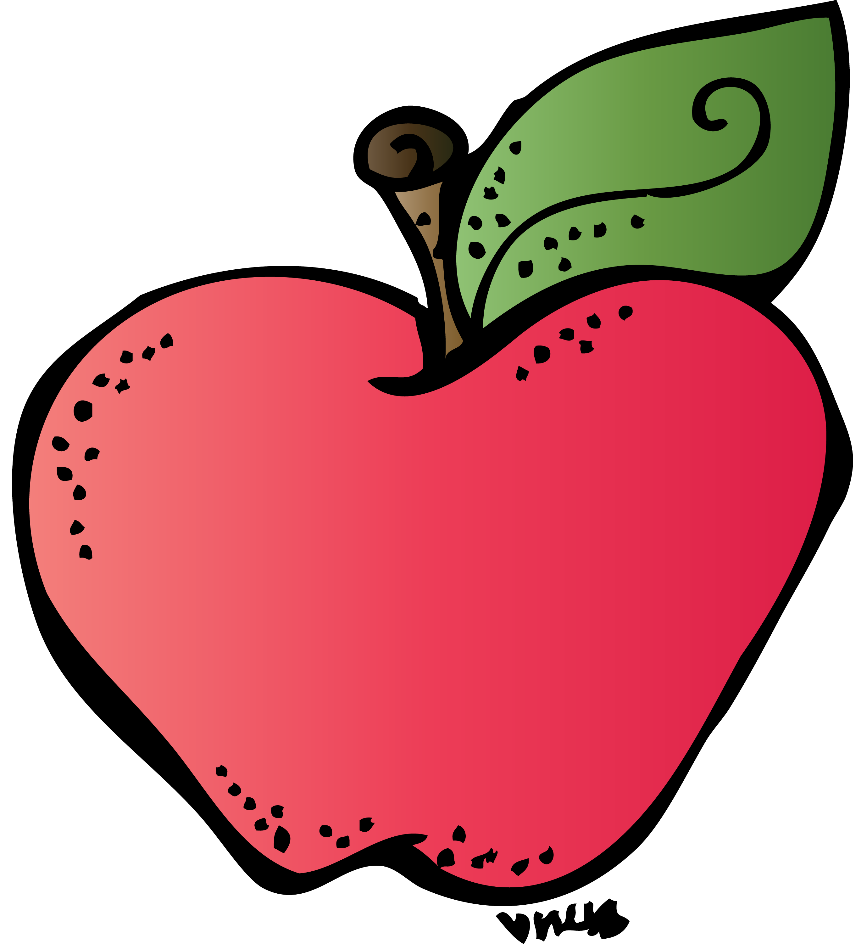 2738x3000 Apple Clipart Transparent Background