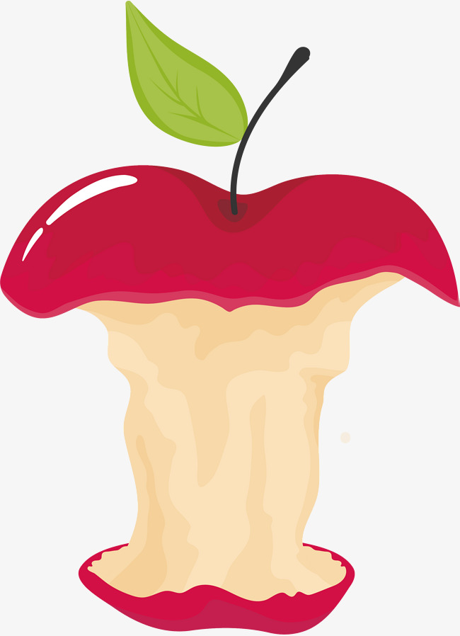 650x898 Cartoon Apple Core, Vector Png, Apple, Apple Core Png And Vector