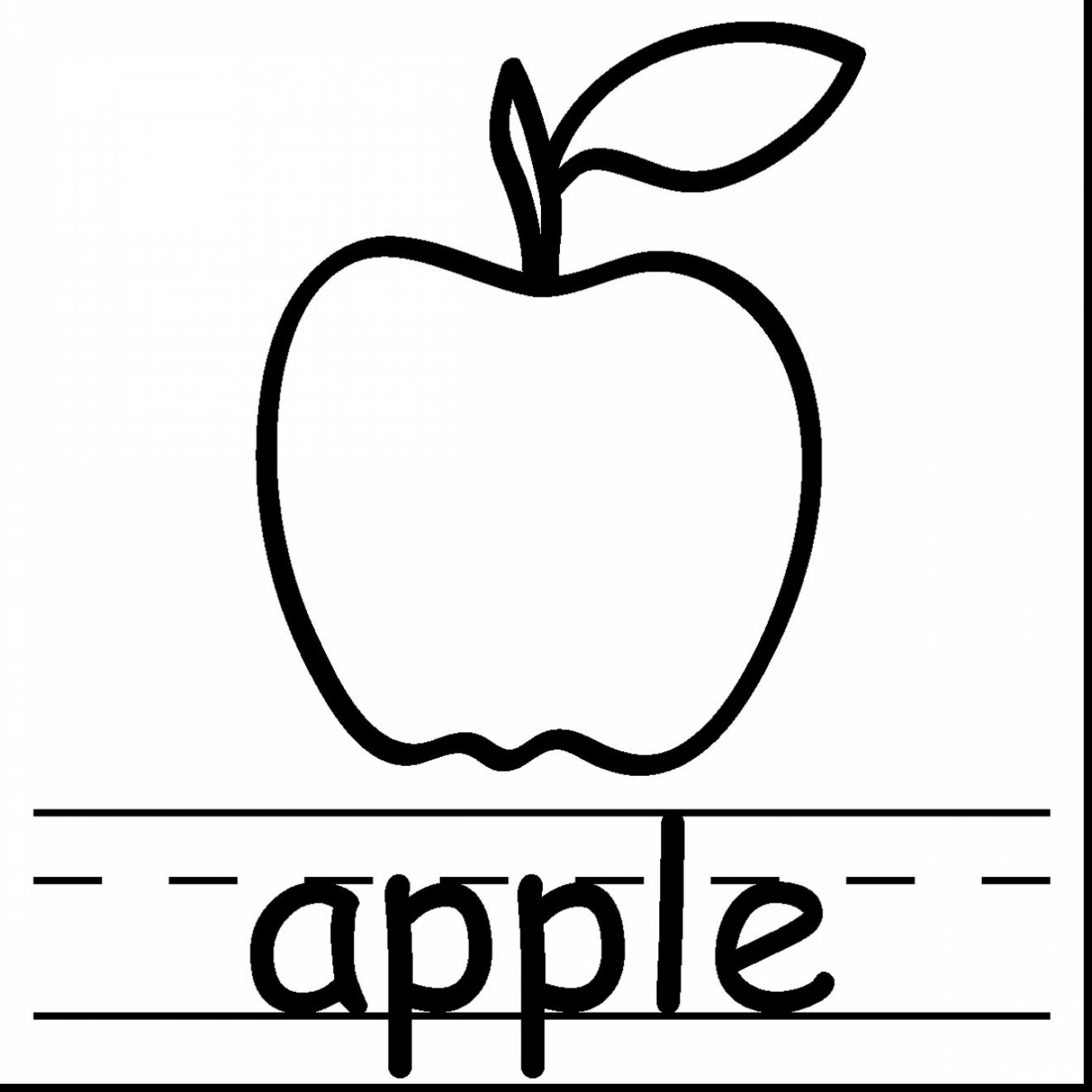 1320x1320 Magnificent Apple Core Coloring Page With Apple Coloring Pages