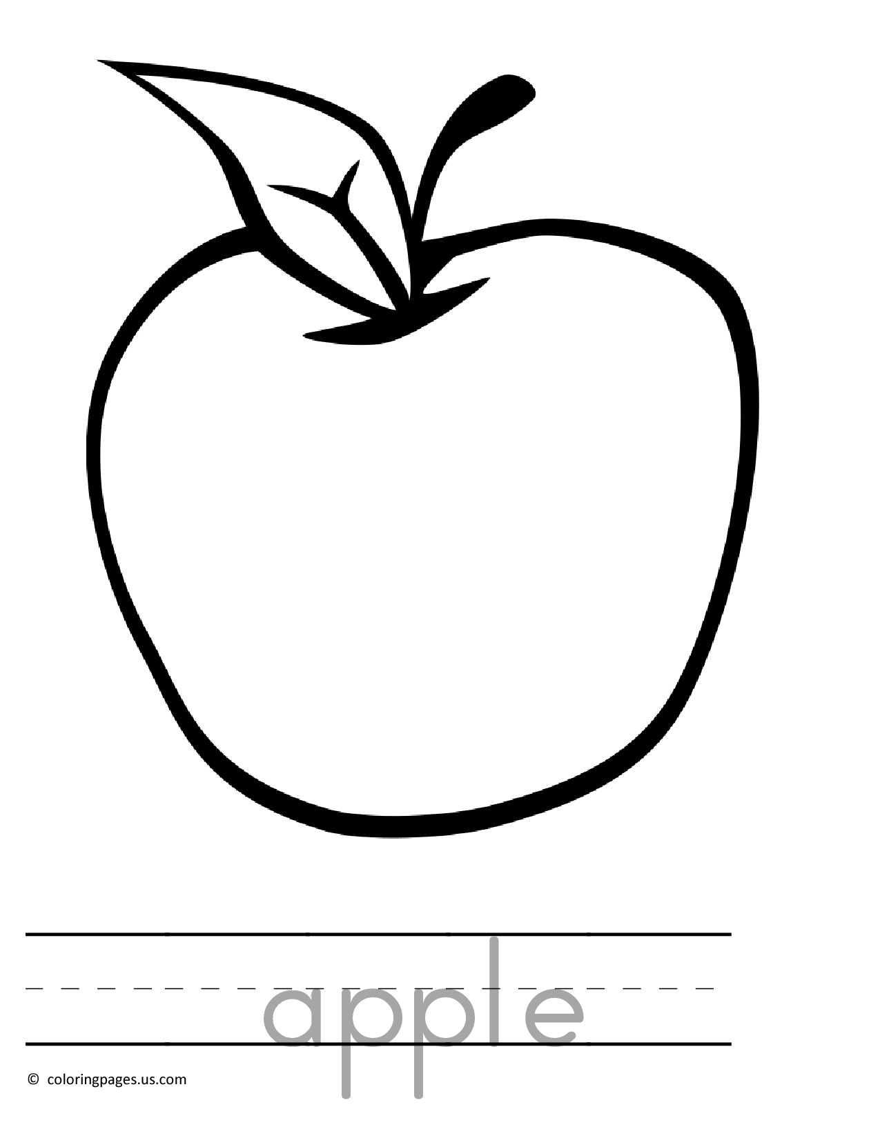 1275x1650 Spectacular Apple Coloring Page Clip Art With Apple Coloring Pages
