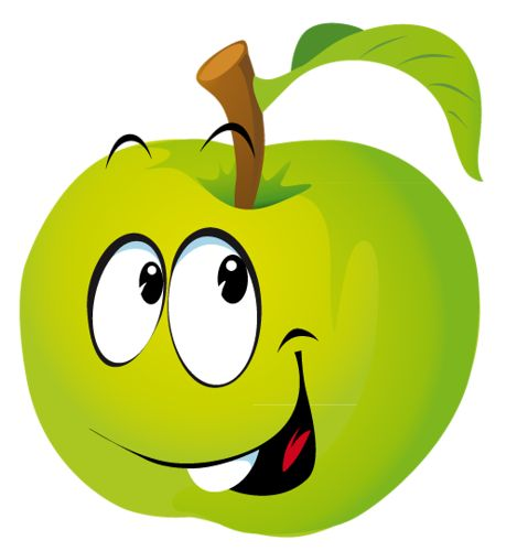 Apple smiley. Free emoji clipart download