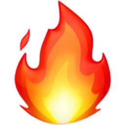 256x256 Fire Emoji U 1f525