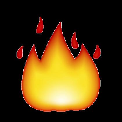 420x420 Flame Clipart Emoji