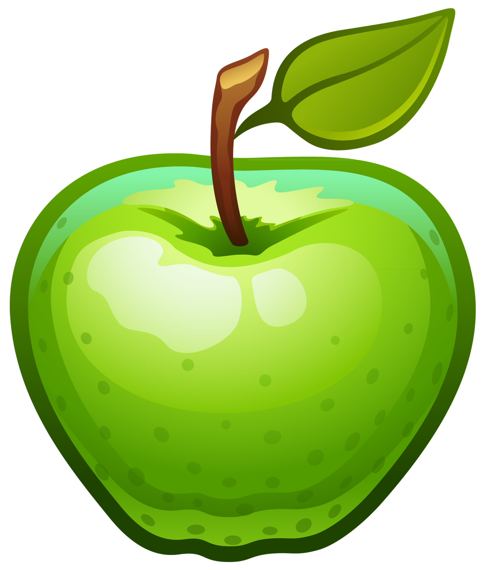1672x1947 Green Clipart Green Apple