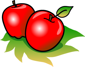 300x235 Apple Clip Art 10