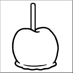 304x304 Clip Art Candy Apple Bampw I Abcteach