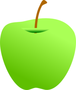 252x298 Green Apple Clip Art