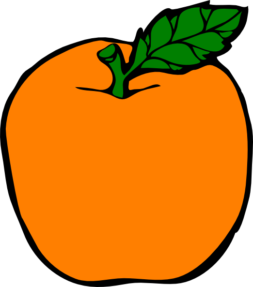 522x593 Orange Apple Clip Art