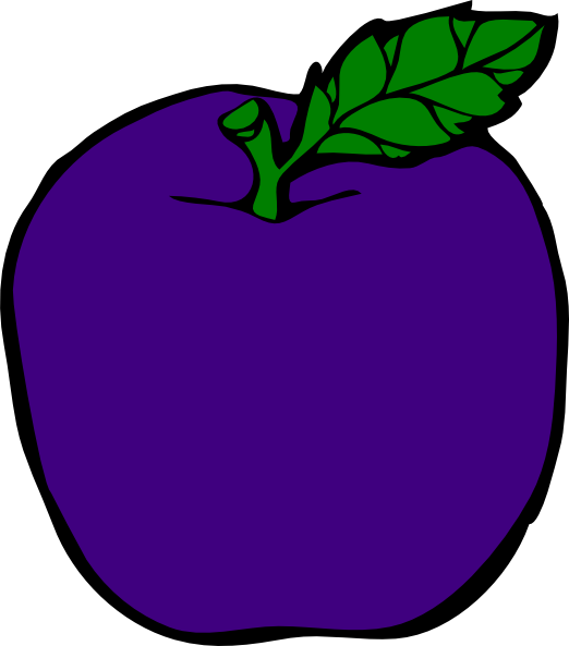 522x593 Purple Apple Clipart
