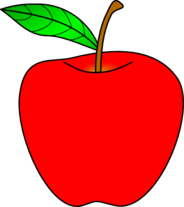 264x297 Red Apple Clipart