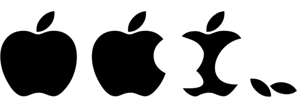 600x197 Apple Logo Outline Free Vector Download (73,060 Free Vector)