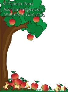 224x300 Clip Art Illustration Of An Apple Tree With Fallen Apples